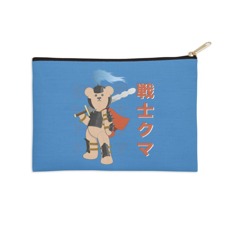 Warrior Bear Accessories Zip Pouch by grumpyteds's Artist Shop