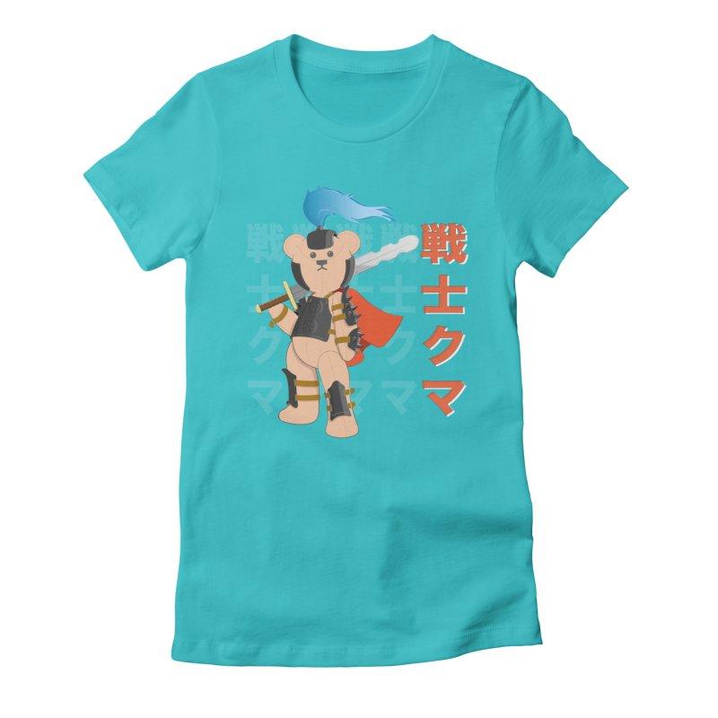 Warrior Bear Women's Fitted T-Shirt by grumpyteds's Artist Shop