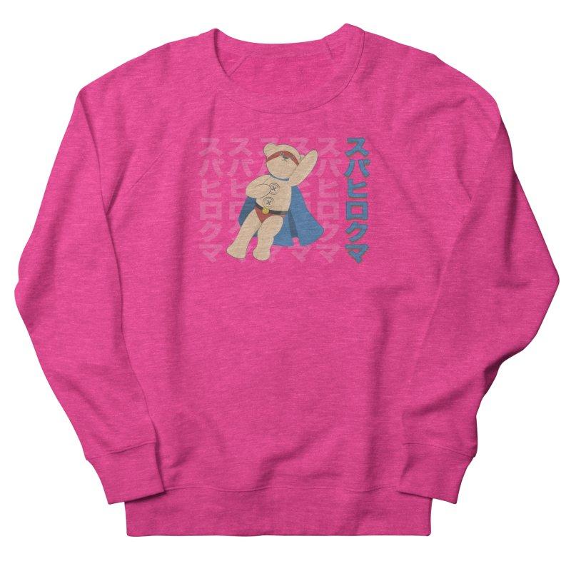 Superhero Bear Men's French Terry Sweatshirt by grumpyteds's Artist Shop