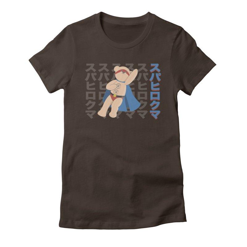 Superhero Bear Women's Fitted T-Shirt by grumpyteds's Artist Shop