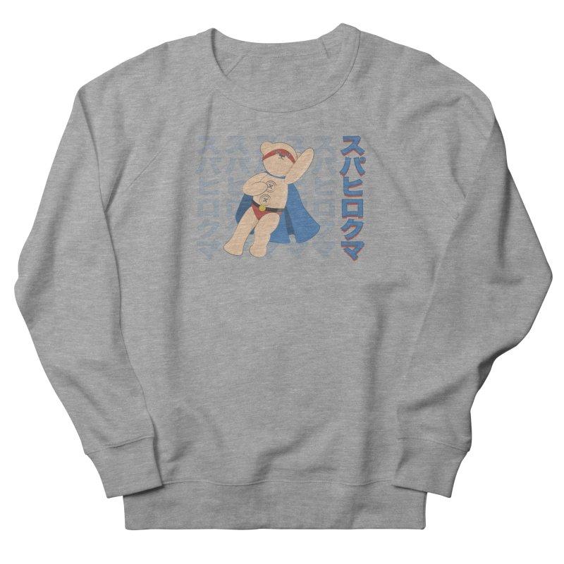 Superhero Bear Blue Men's French Terry Sweatshirt by grumpyteds's Artist Shop