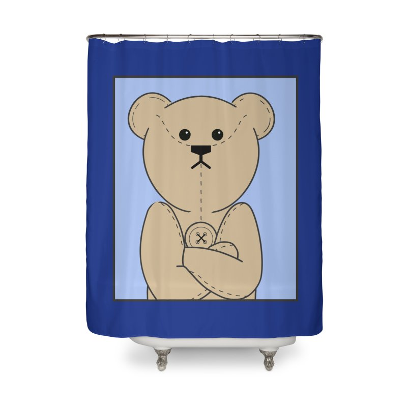 Very Grumpy Ted Home Shower Curtain by grumpyteds's Artist Shop