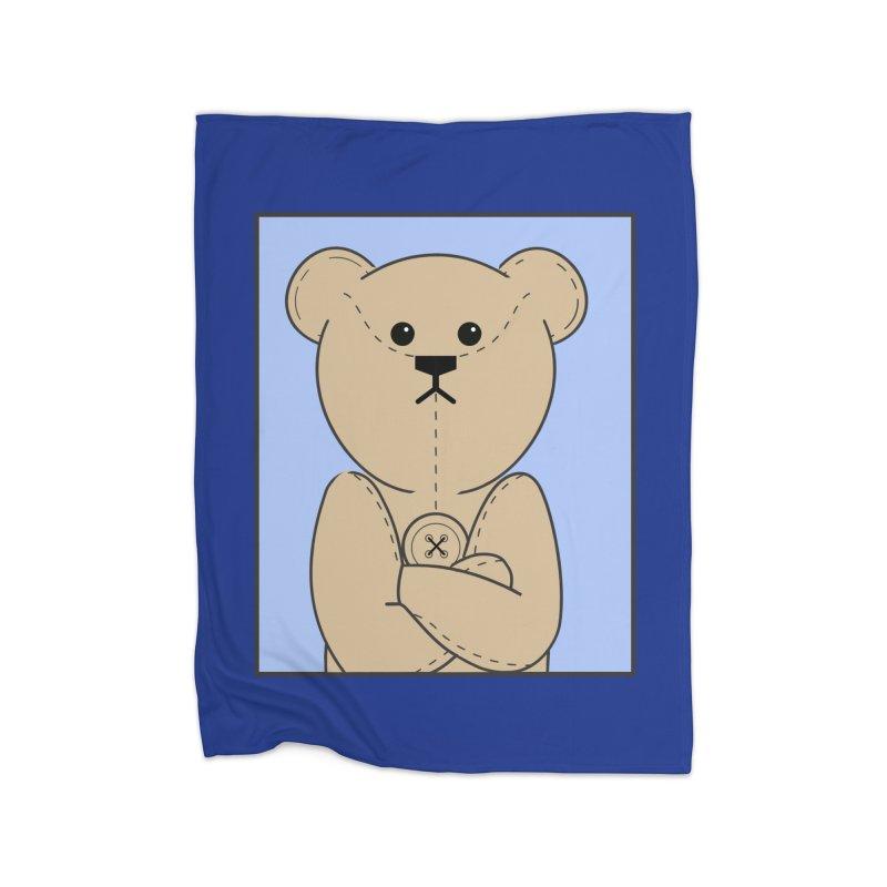 Very Grumpy Ted Home Fleece Blanket Blanket by grumpyteds's Artist Shop