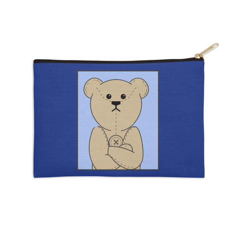 Very Grumpy Ted Accessories Zip Pouch by grumpyteds's Artist Shop