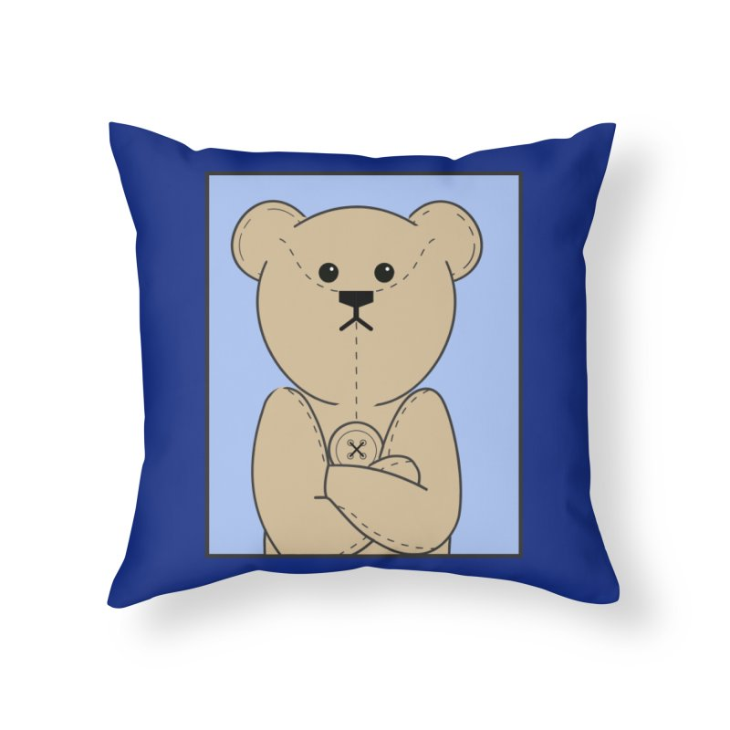 Very Grumpy Ted Home Throw Pillow by grumpyteds's Artist Shop