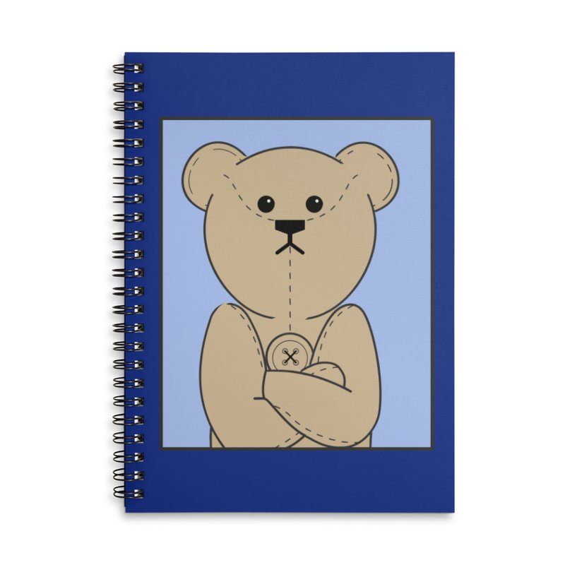 Very Grumpy Ted Accessories Lined Spiral Notebook by grumpyteds's Artist Shop