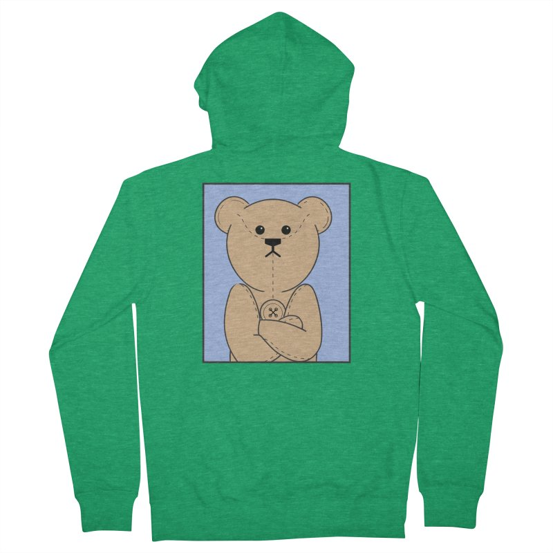 Very Grumpy Ted Women's French Terry Zip-Up Hoody by grumpyteds's Artist Shop