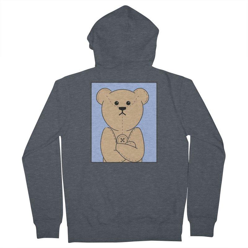 Very Grumpy Ted Men's French Terry Zip-Up Hoody by grumpyteds's Artist Shop