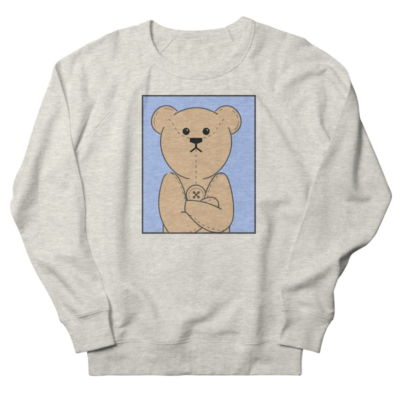 Very Grumpy Ted Men's French Terry Sweatshirt by grumpyteds's Artist Shop