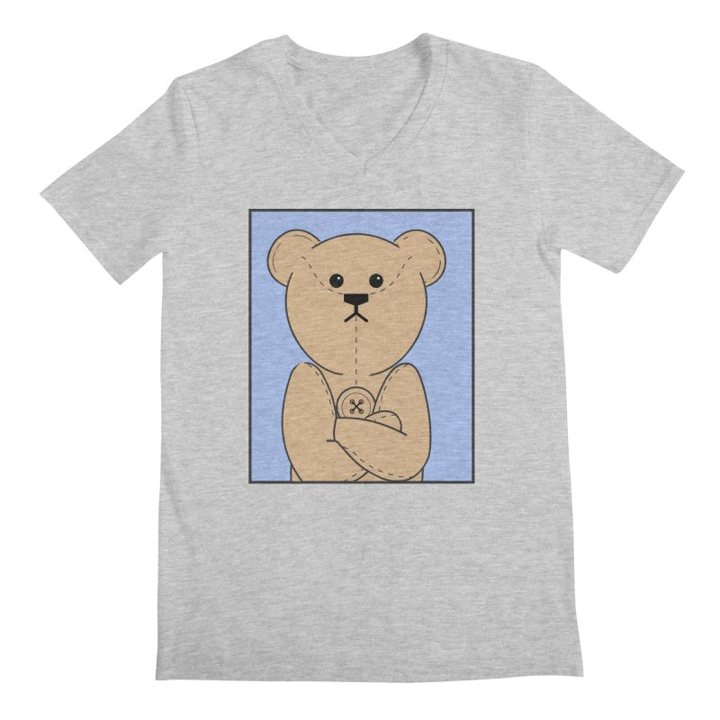 Very Grumpy Ted Men's Regular V-Neck by grumpyteds's Artist Shop