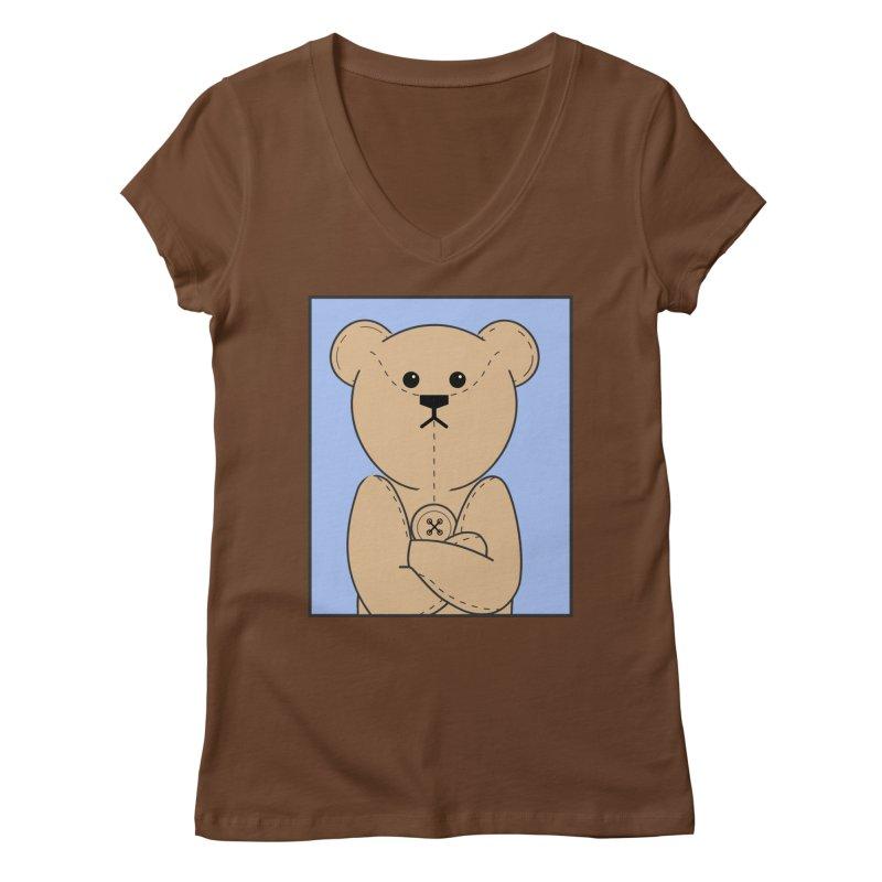 Very Grumpy Ted Women's Regular V-Neck by grumpyteds's Artist Shop