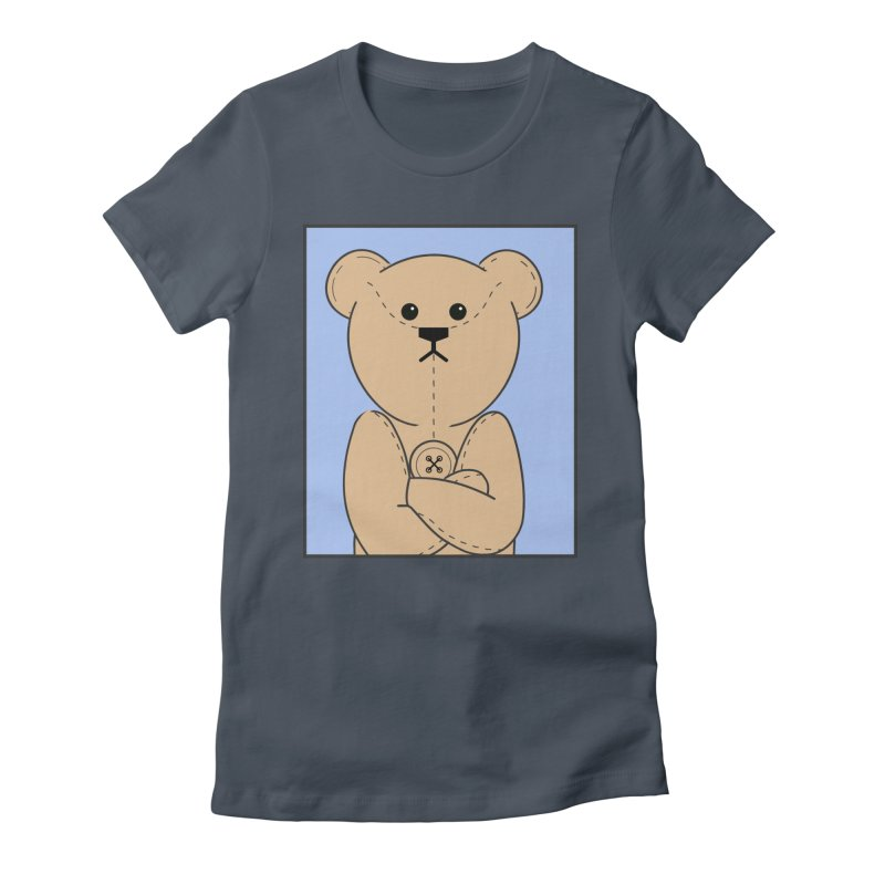 Very Grumpy Ted Women's Fitted T-Shirt by grumpyteds's Artist Shop
