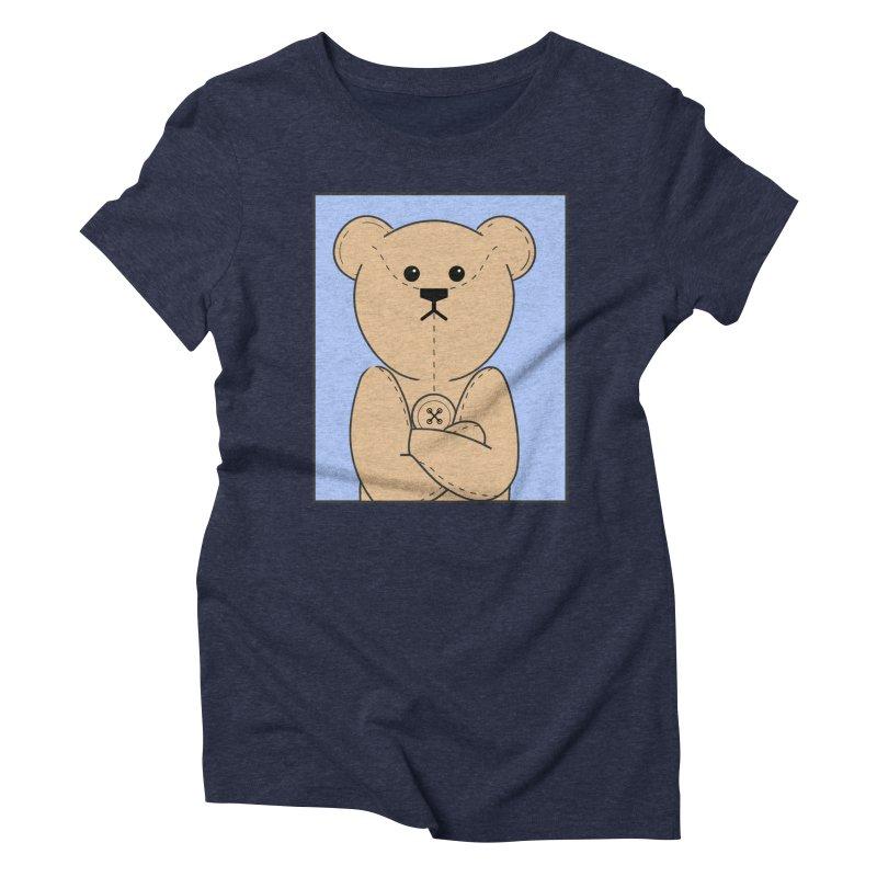 Very Grumpy Ted Women's Triblend T-Shirt by grumpyteds's Artist Shop