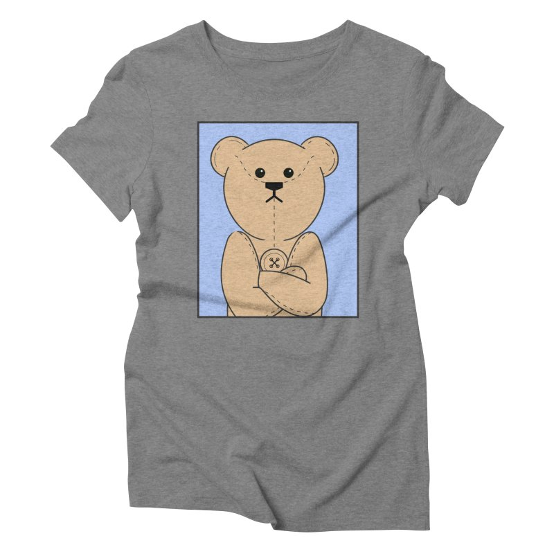 Very Grumpy Ted Women's Triblend T-Shirt by grumpyteds's Artist Shop