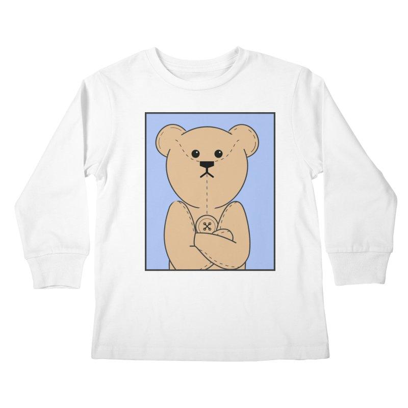 Very Grumpy Ted Kids Longsleeve T-Shirt by grumpyteds's Artist Shop