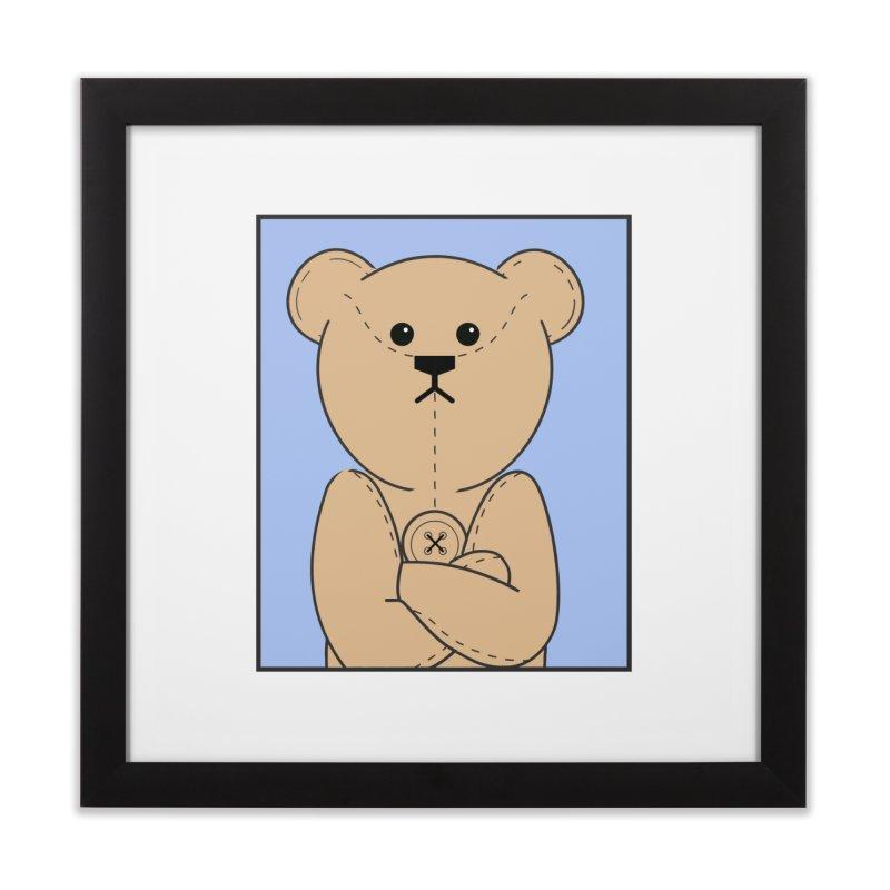 Very Grumpy Ted Home Framed Fine Art Print by grumpyteds's Artist Shop