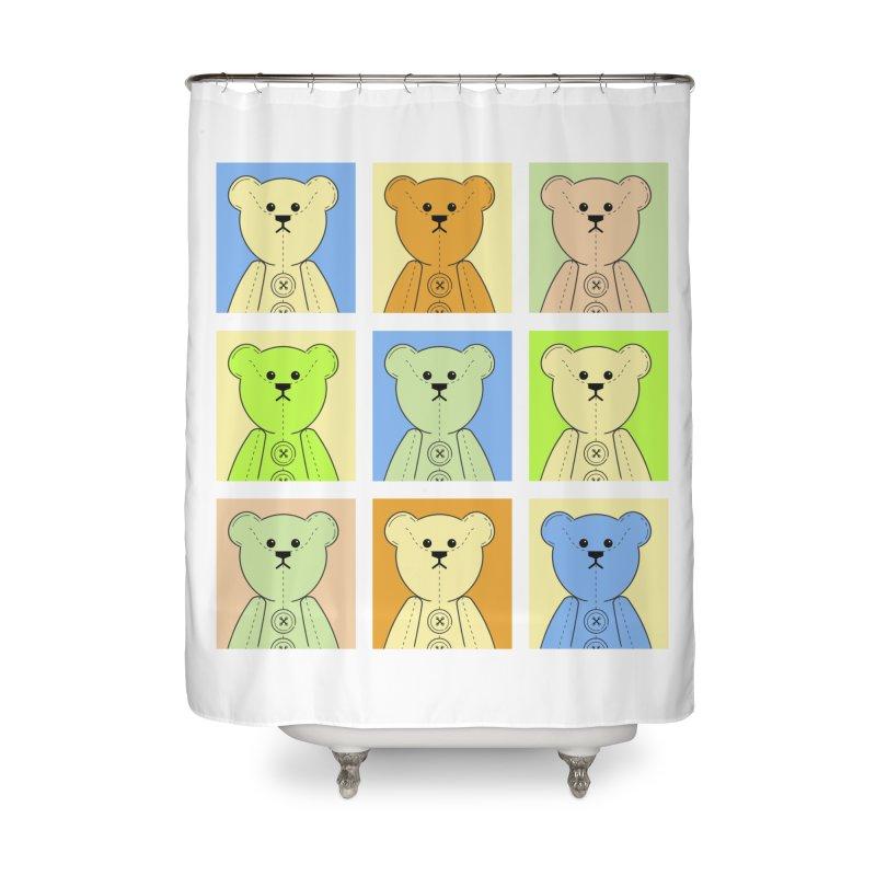 Pastel Bear Block Home Shower Curtain by grumpyteds's Artist Shop