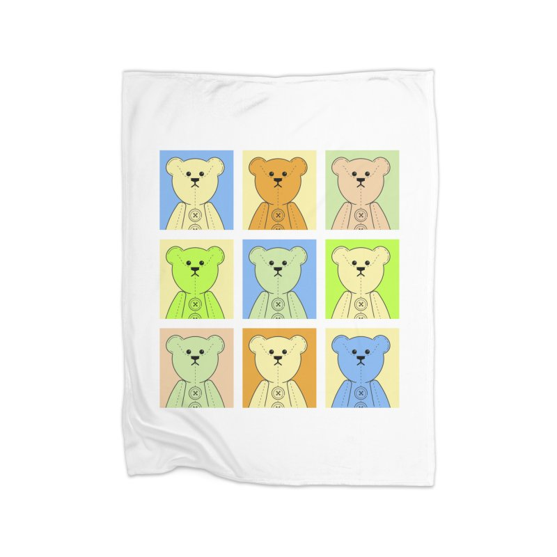 Pastel Bear Block Home Blanket by grumpyteds's Artist Shop