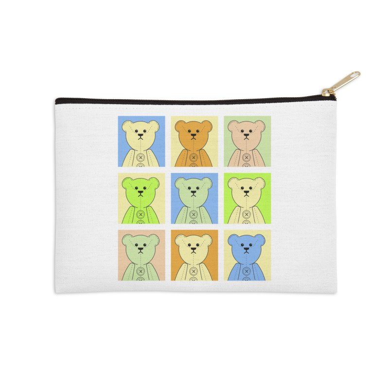Pastel Bear Block Accessories Zip Pouch by grumpyteds's Artist Shop