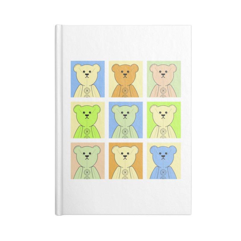 Pastel Bear Block Accessories Blank Journal Notebook by grumpyteds's Artist Shop