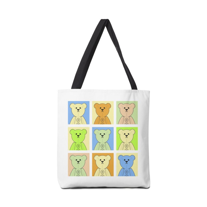 Pastel Bear Block Accessories Tote Bag Bag by grumpyteds's Artist Shop