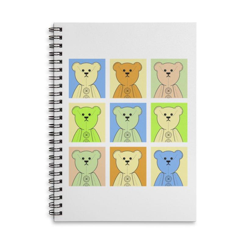 Pastel Bear Block Accessories Lined Spiral Notebook by grumpyteds's Artist Shop