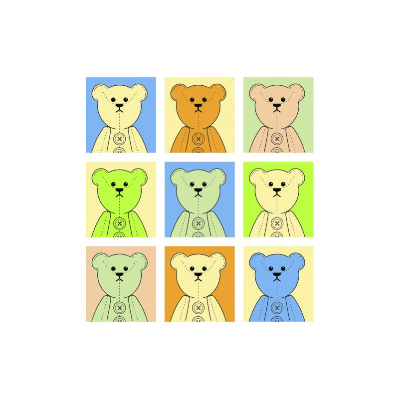 Pastel Bear Block Accessories Bag by grumpyteds's Artist Shop