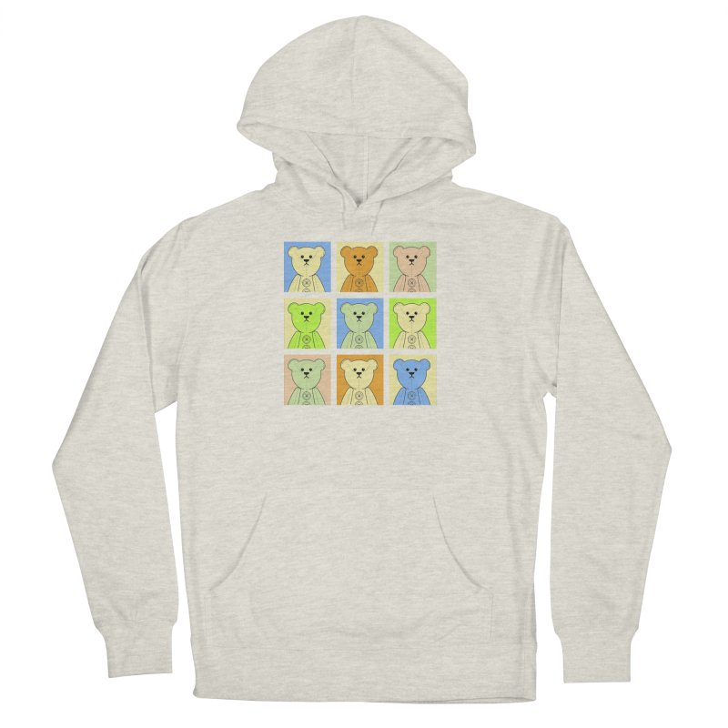 Pastel Bear Block Women's French Terry Pullover Hoody by grumpyteds's Artist Shop