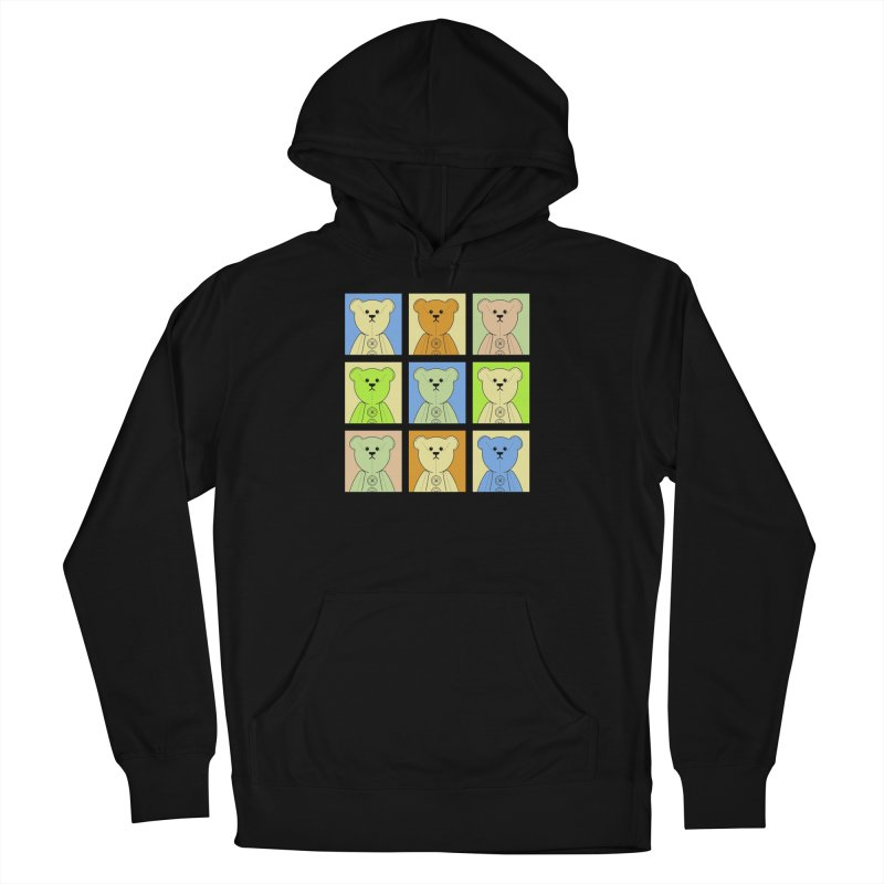 Pastel Bear Block Men's French Terry Pullover Hoody by grumpyteds's Artist Shop