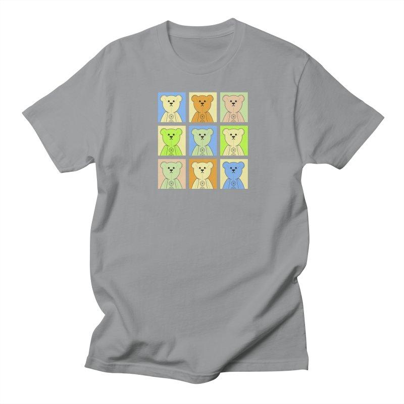 Pastel Bear Block Women's Regular Unisex T-Shirt by grumpyteds's Artist Shop