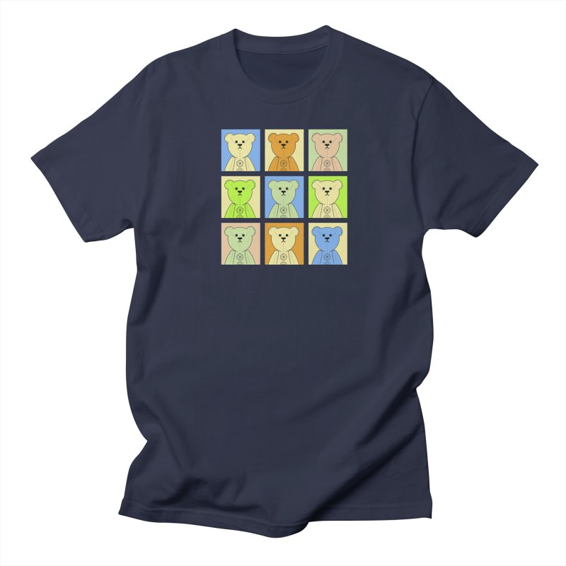 Pastel Bear Block Men's Regular T-Shirt by grumpyteds's Artist Shop