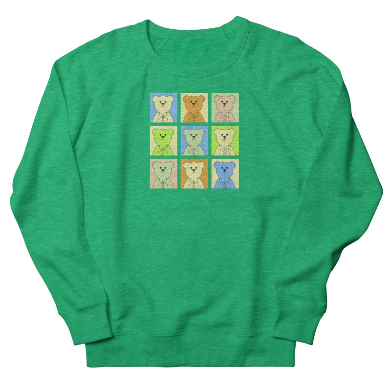 Pastel Bear Block Women's French Terry Sweatshirt by grumpyteds's Artist Shop