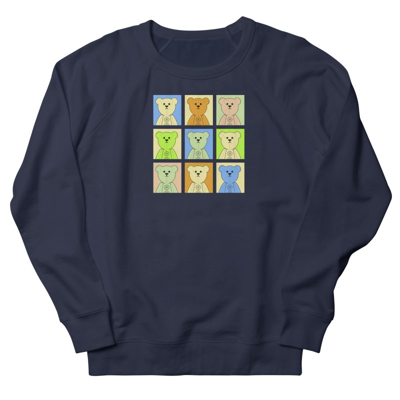 Pastel Bear Block Men's French Terry Sweatshirt by grumpyteds's Artist Shop