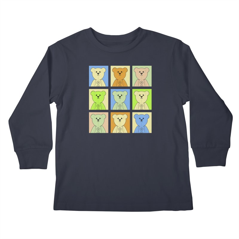 Pastel Bear Block Kids Longsleeve T-Shirt by grumpyteds's Artist Shop