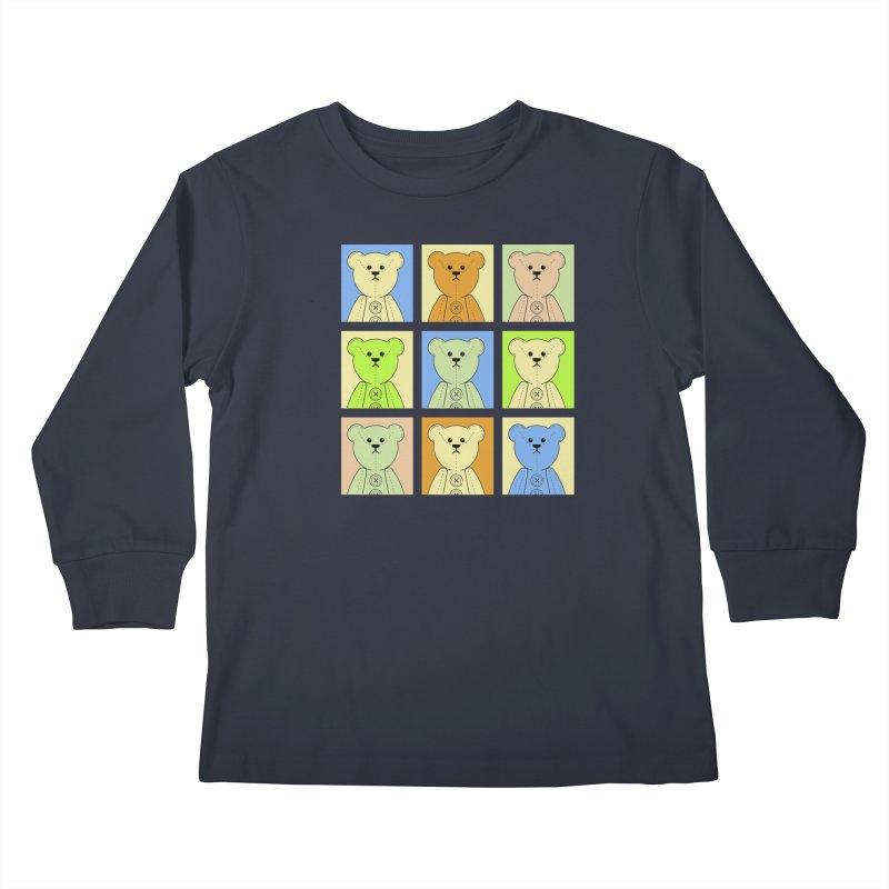 Pastel Bear Block Kids Longsleeve T-Shirt by grumpyteds's Artist Shop