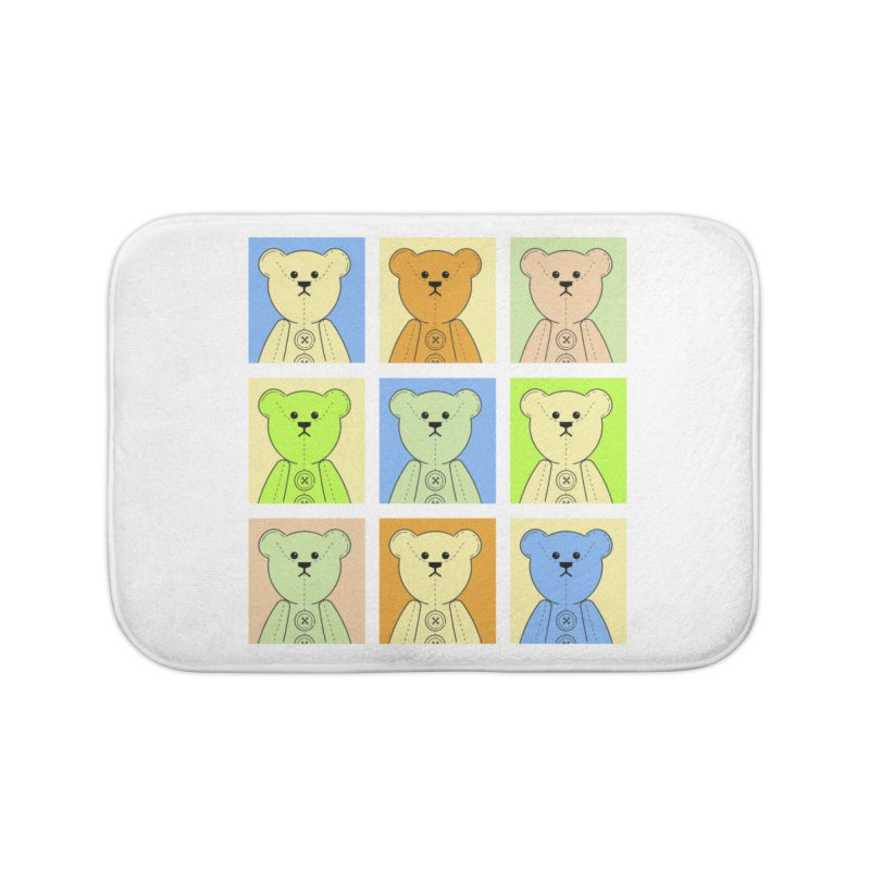 Pastel Bear Block Home Bath Mat by grumpyteds's Artist Shop