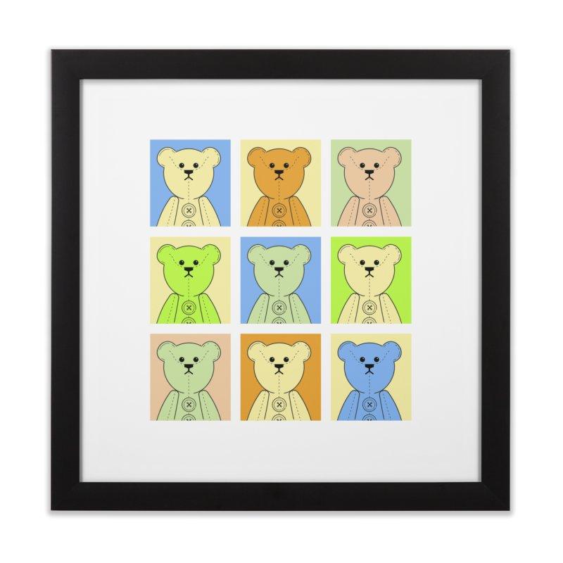 Pastel Bear Block Home Framed Fine Art Print by grumpyteds's Artist Shop
