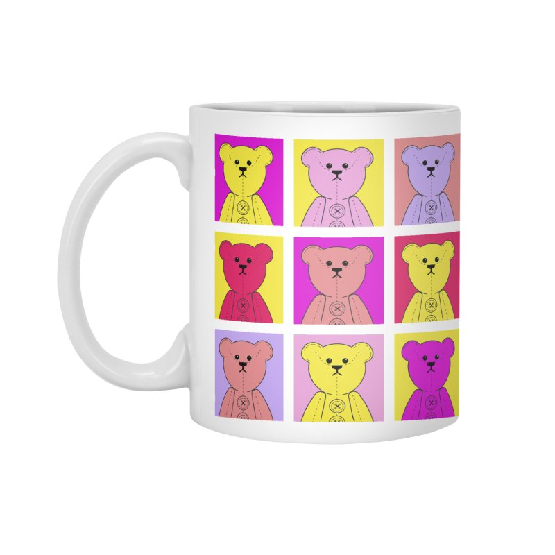 Bright Bear Block Accessories Standard Mug by grumpyteds's Artist Shop