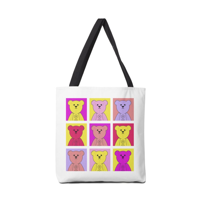 Bright Bear Block Accessories Tote Bag Bag by grumpyteds's Artist Shop