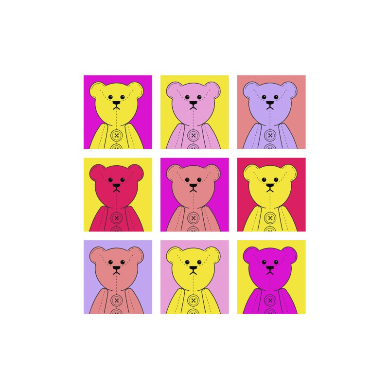 Bright Bear Block by grumpyteds's Artist Shop