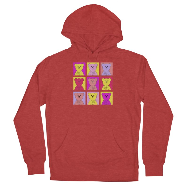 Bright Bear Block Men's French Terry Pullover Hoody by grumpyteds's Artist Shop