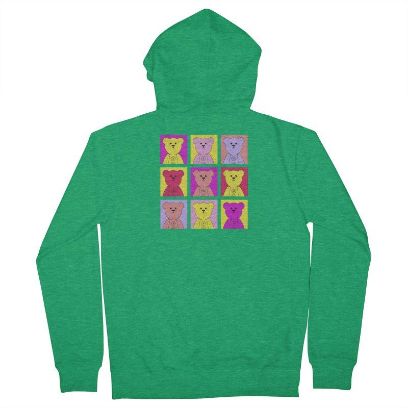 Bright Bear Block Men's Zip-Up Hoody by grumpyteds's Artist Shop