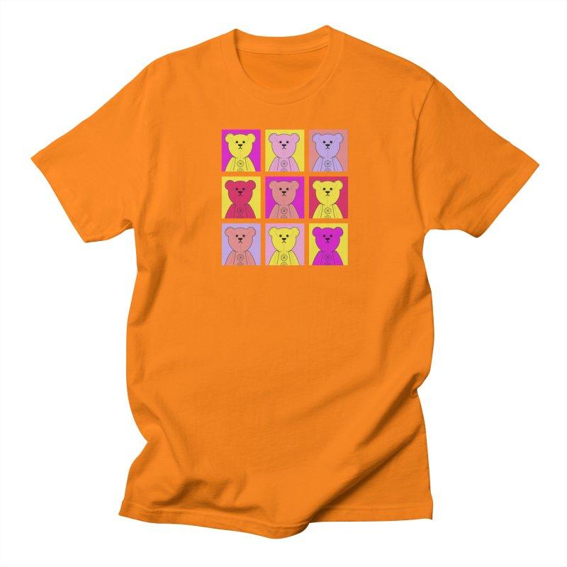 Bright Bear Block Men's Regular T-Shirt by grumpyteds's Artist Shop