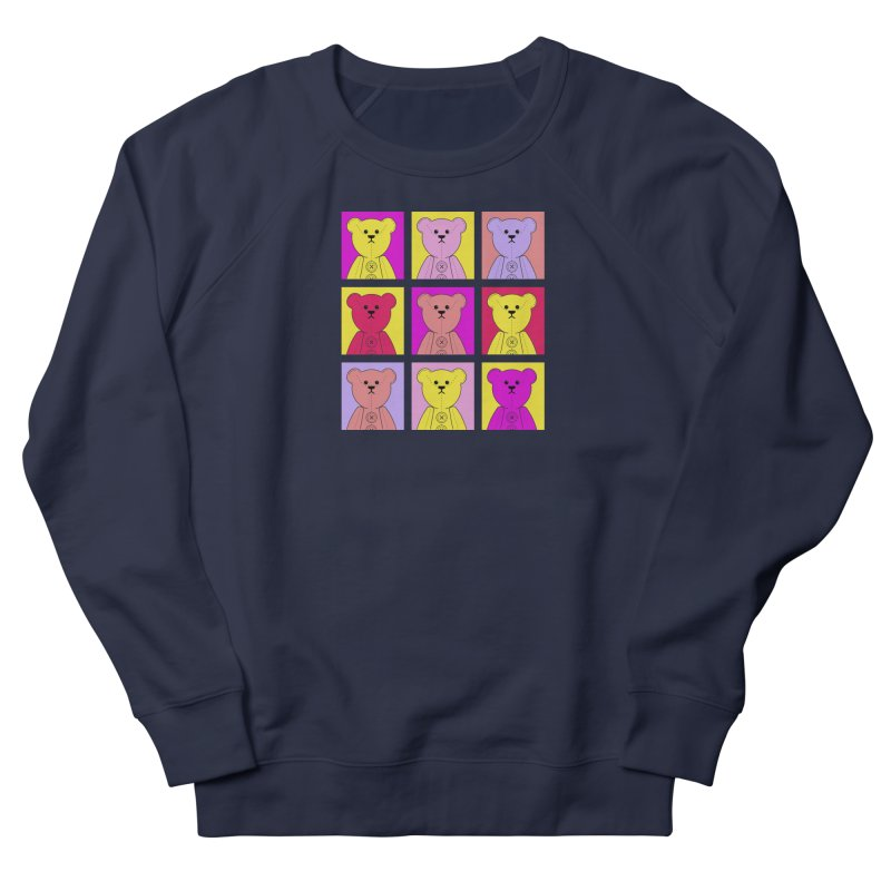 Bright Bear Block Women's French Terry Sweatshirt by grumpyteds's Artist Shop
