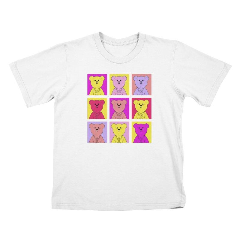 Bright Bear Block Kids T-Shirt by grumpyteds's Artist Shop