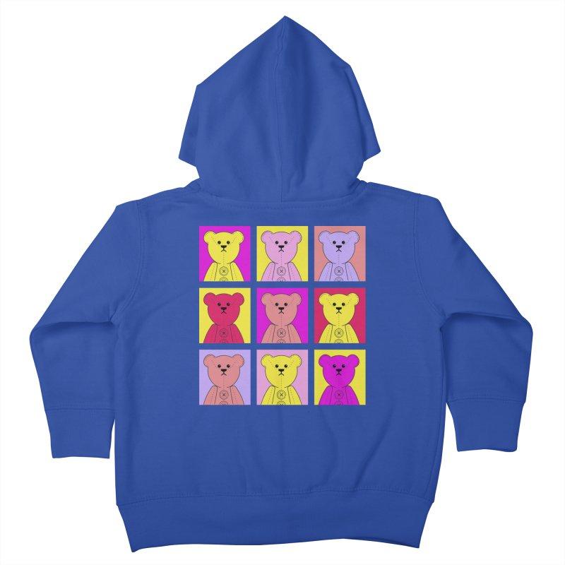Bright Bear Block Kids Toddler Zip-Up Hoody by grumpyteds's Artist Shop