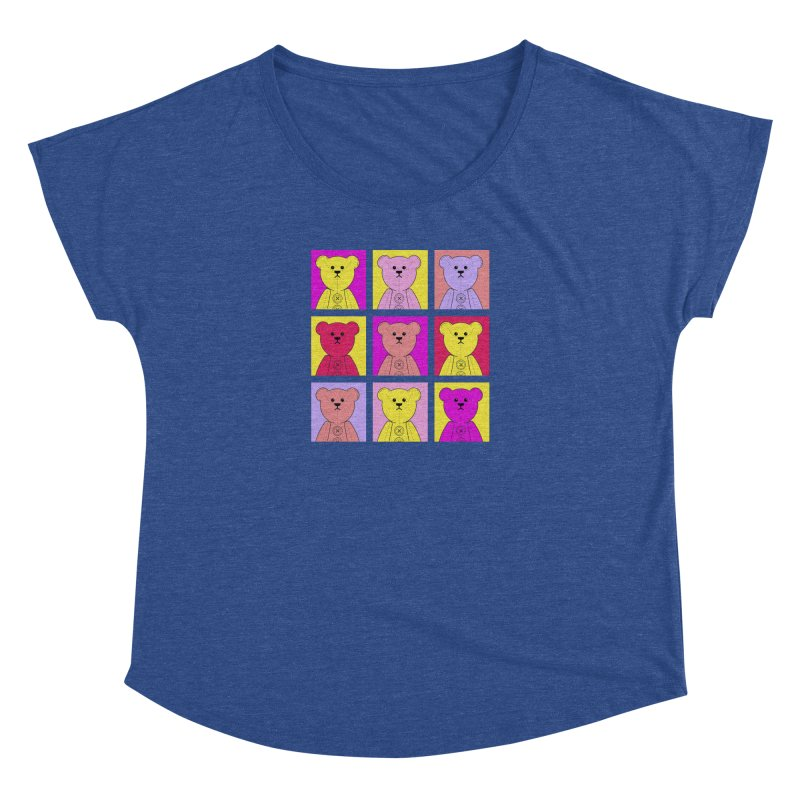 Bright Bear Block Women's Dolman Scoop Neck by grumpyteds's Artist Shop