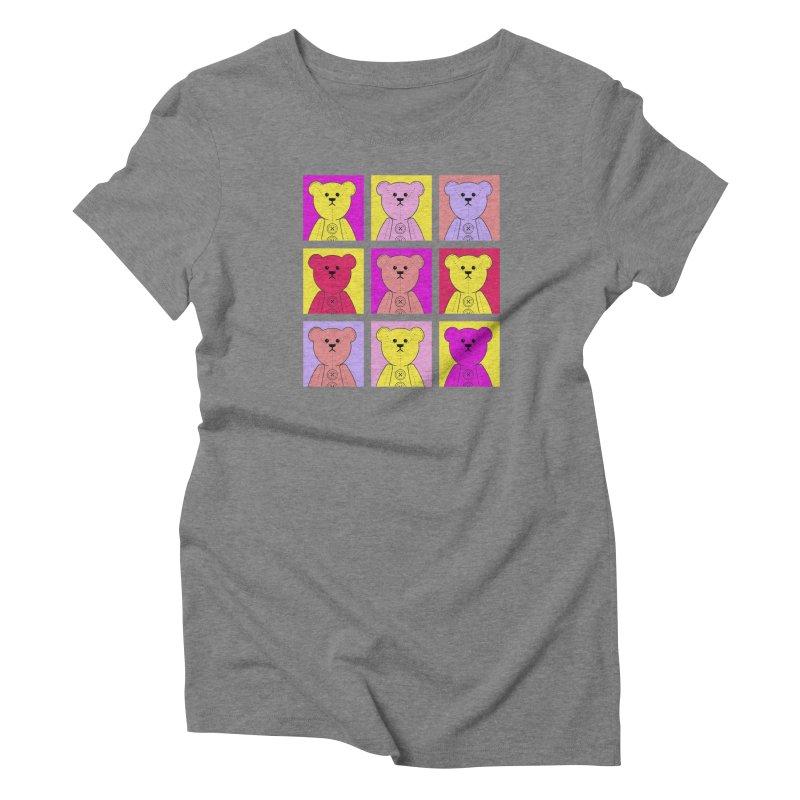 Bright Bear Block Women's Triblend T-Shirt by grumpyteds's Artist Shop