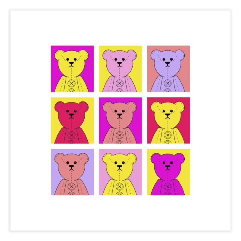 Bright Bear Block Home Fine Art Print by grumpyteds's Artist Shop