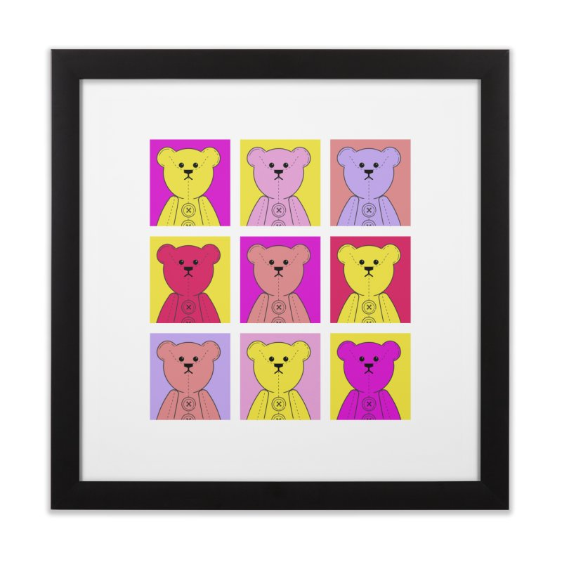 Bright Bear Block Home Framed Fine Art Print by grumpyteds's Artist Shop